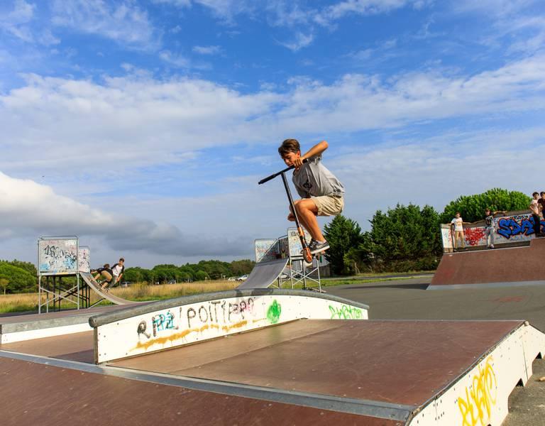 Skate-park sur l'Ile de Ré (c) Mathieu Genon