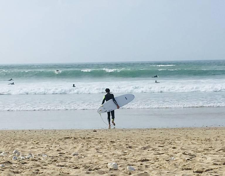 Surf sur la plage de Gros Jonc (c) Jérôme Léchelle