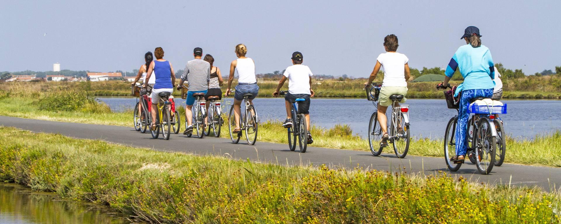 Des kilomètres de pistes cyclables pour découvrir les marais de l'Ile de Ré ©François Blanchard