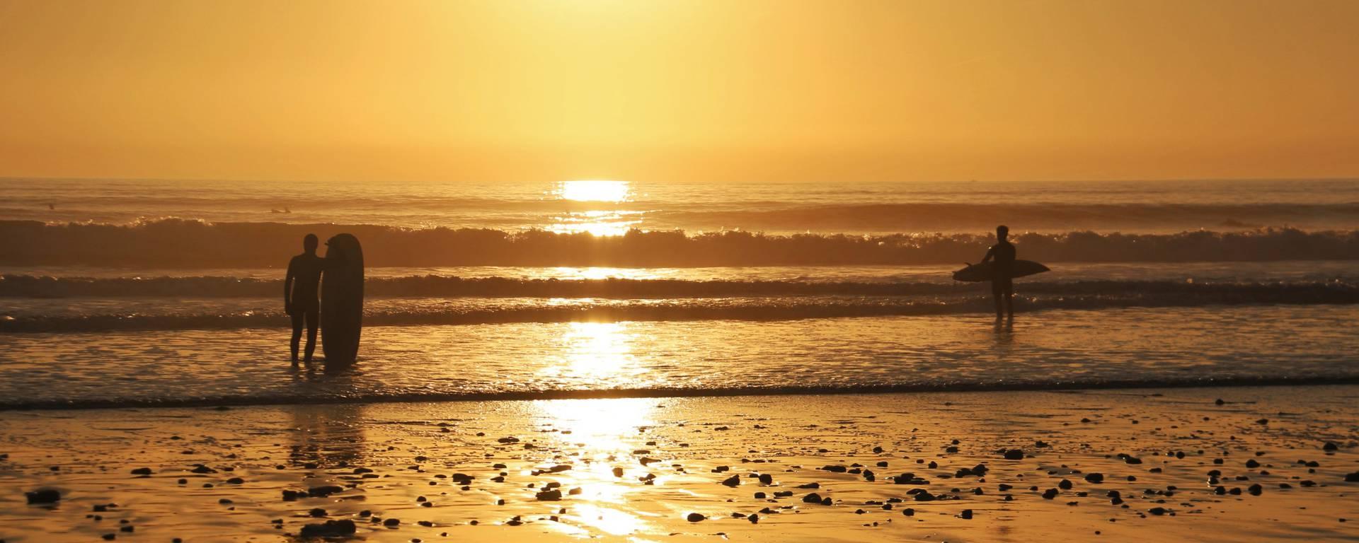 Coucher de soleil plage, Ile de Ré