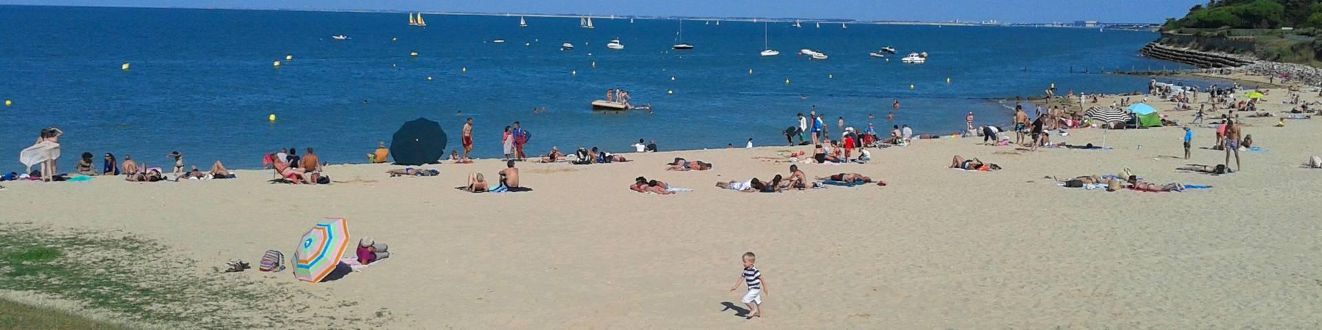 La plage à Saint-Martin-de-Ré