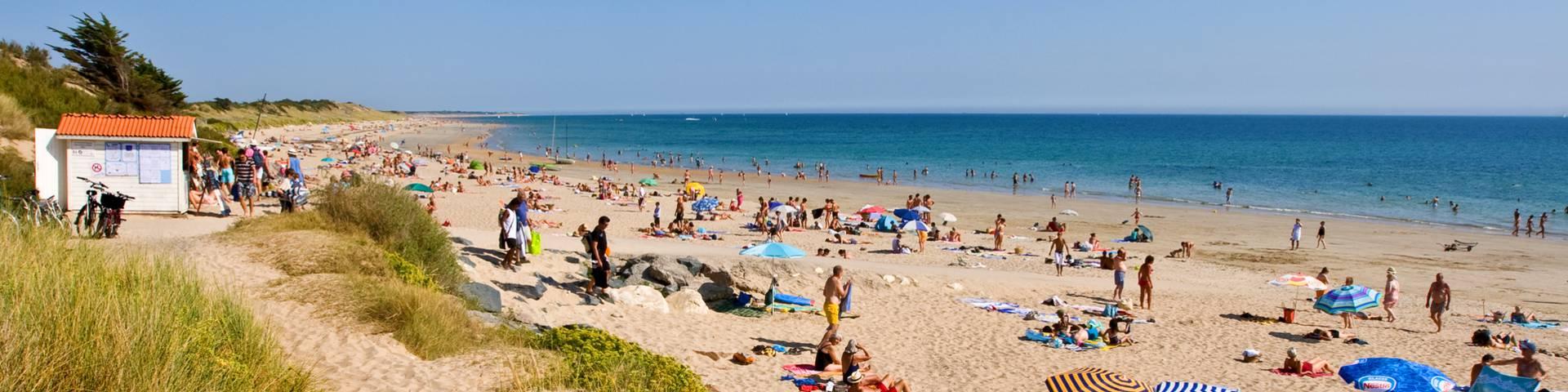 Les plages à la Couarde-sur-Mer