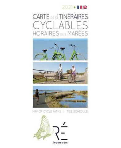Ile de ré carte itinéraires cyclables et horaires de marées