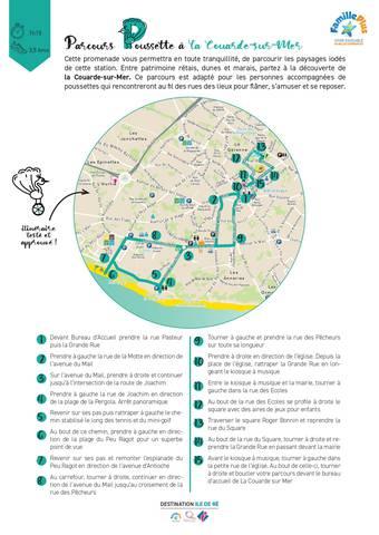 plan itinéraire village poussette la couarde-sur-mer