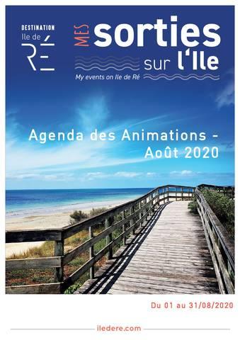 calendrier des animations août 2020