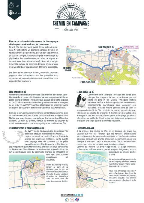 Chemins de campagne en vélo