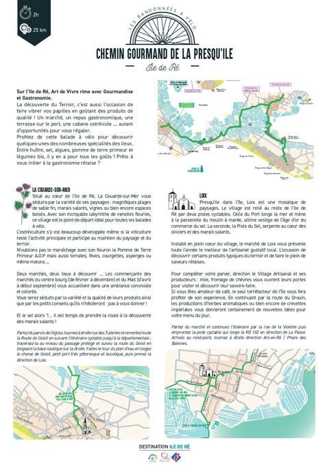 Chemin gourmand de la presqu'île en vélo