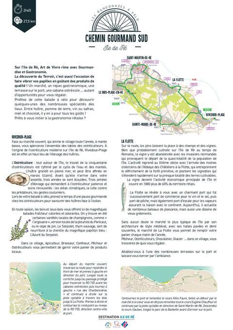 Chemin gourmand du Sud de l'île en vélo