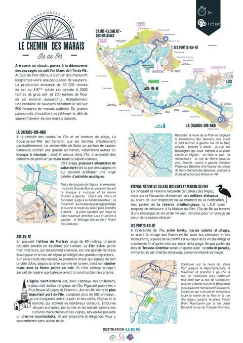 Le chemin des marais en vélo