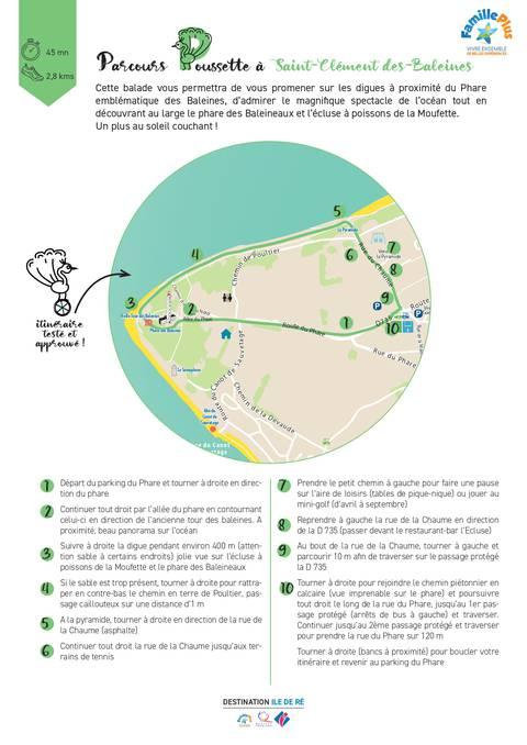 plan itinéraire poussette village saint-clément-des-baleines