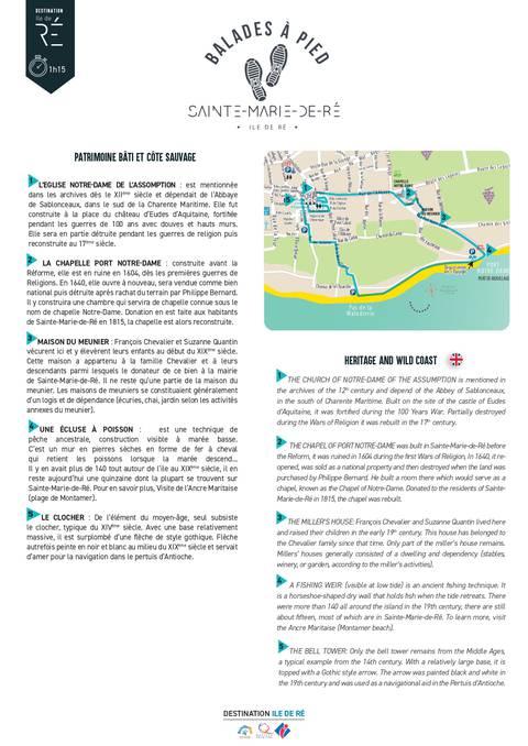 Le patrimoine et la côte de Sainte-Marie-de-Ré