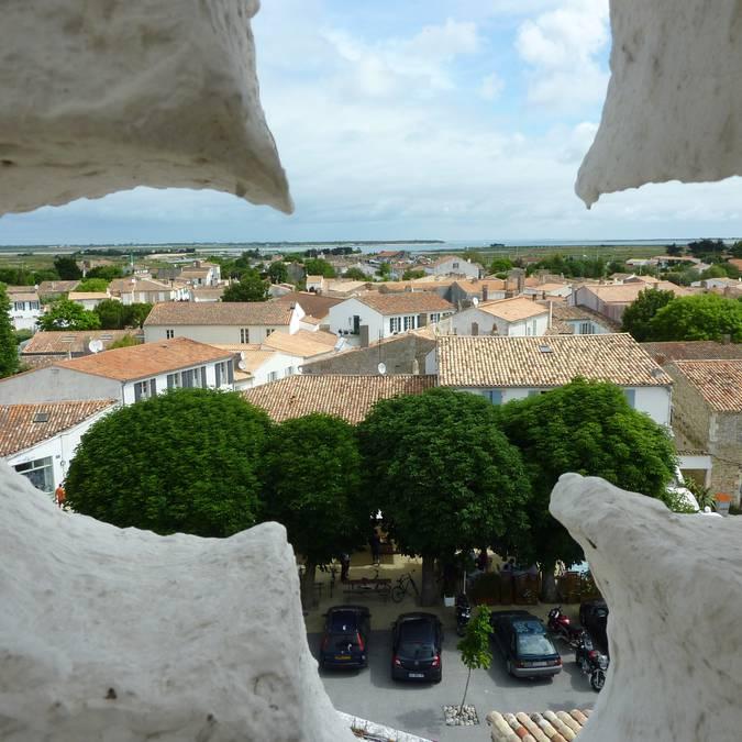 Vue d'Ars depuis le clocher ©Destination Ile de Ré