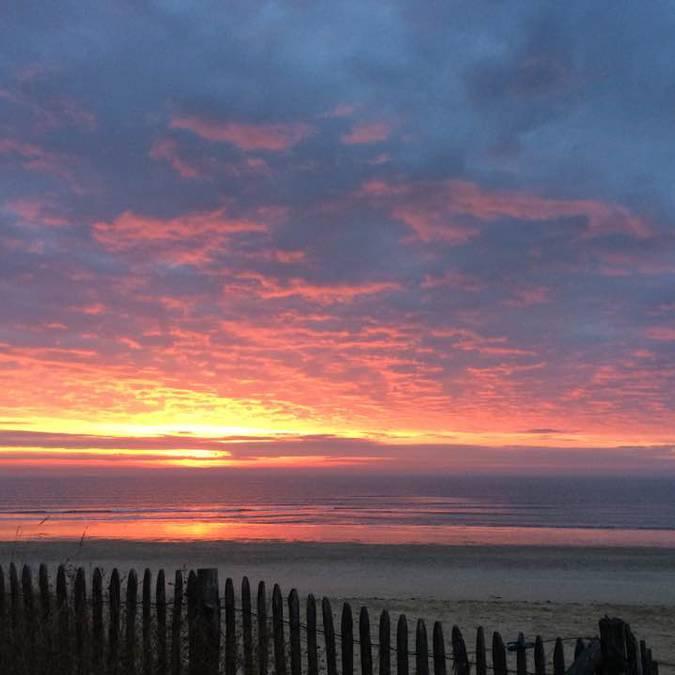 Lever de soleil en hiver sur l'Ile de Ré, ©Laurence Bruneteau